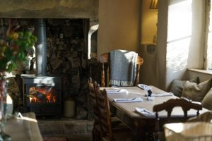Log burner in George at Alstonefield