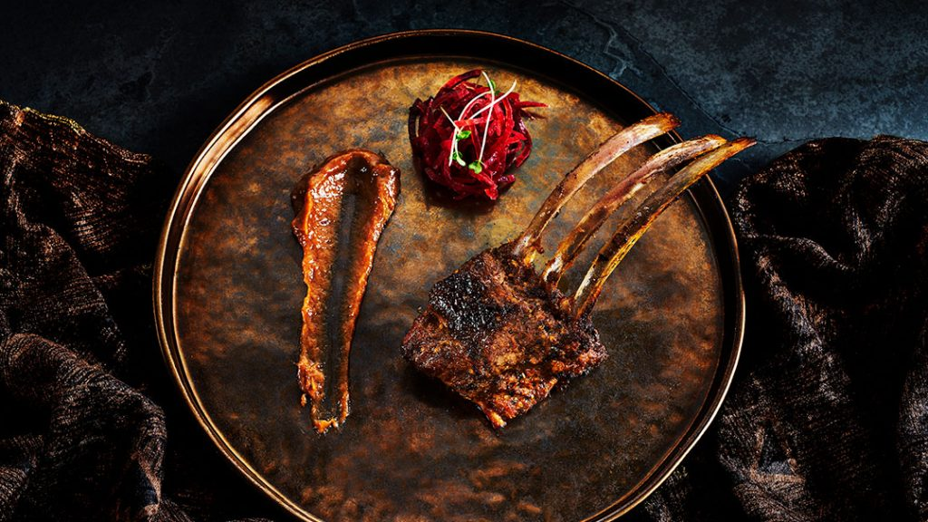 rack of lamb at viceroy