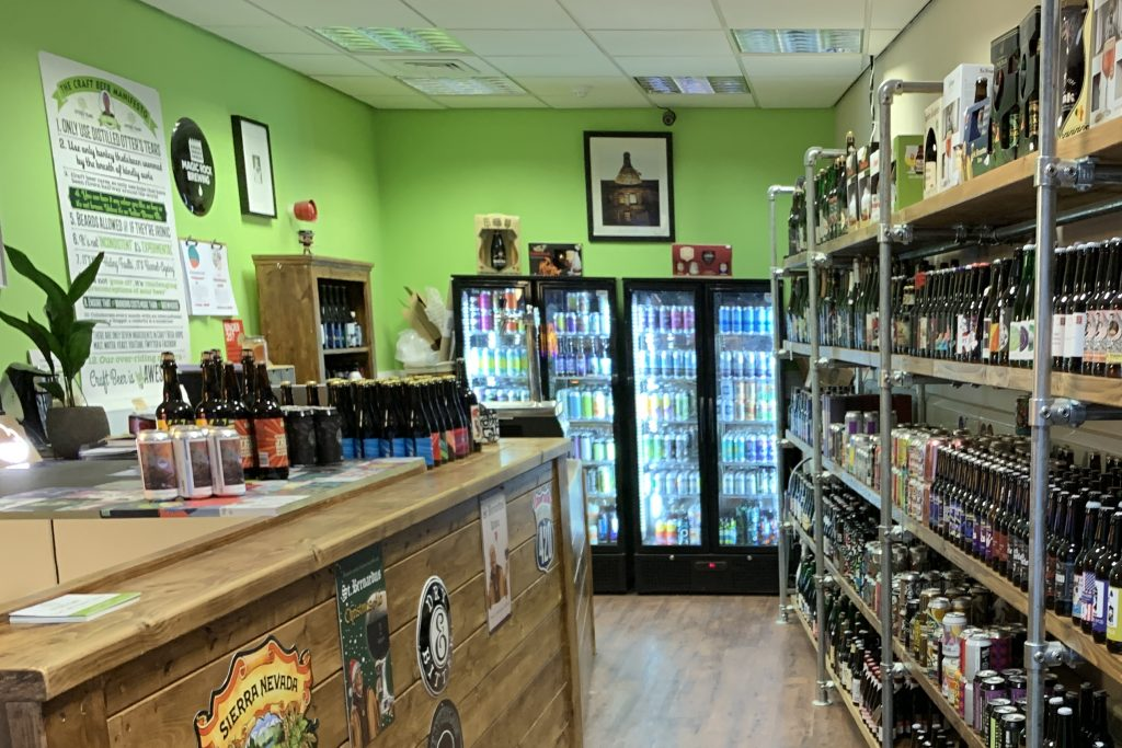 Inside Otter's Tears bottle shop