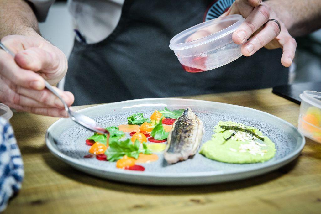 Cured mackerel dish