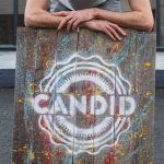 Mark Bamping and Candid Beer sign