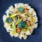 Crab and nashi pear dish