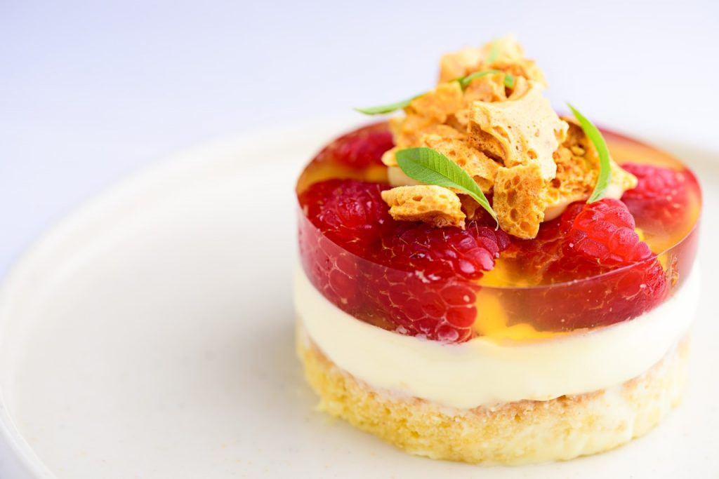 Little Seeds strawberry trifle