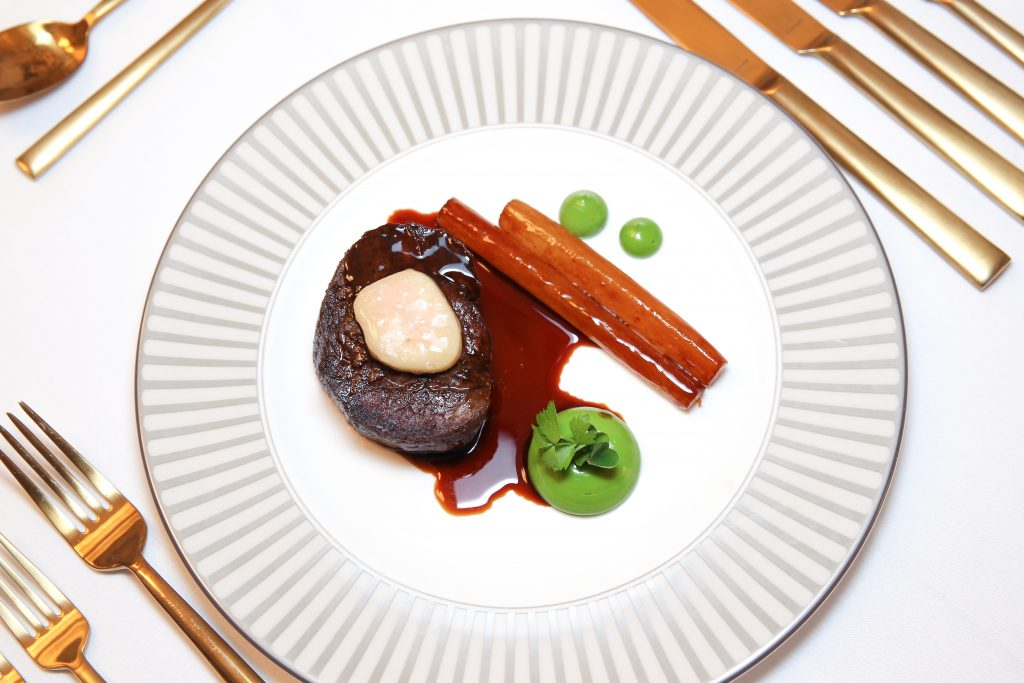 Beef tournedos by John Williams MBE