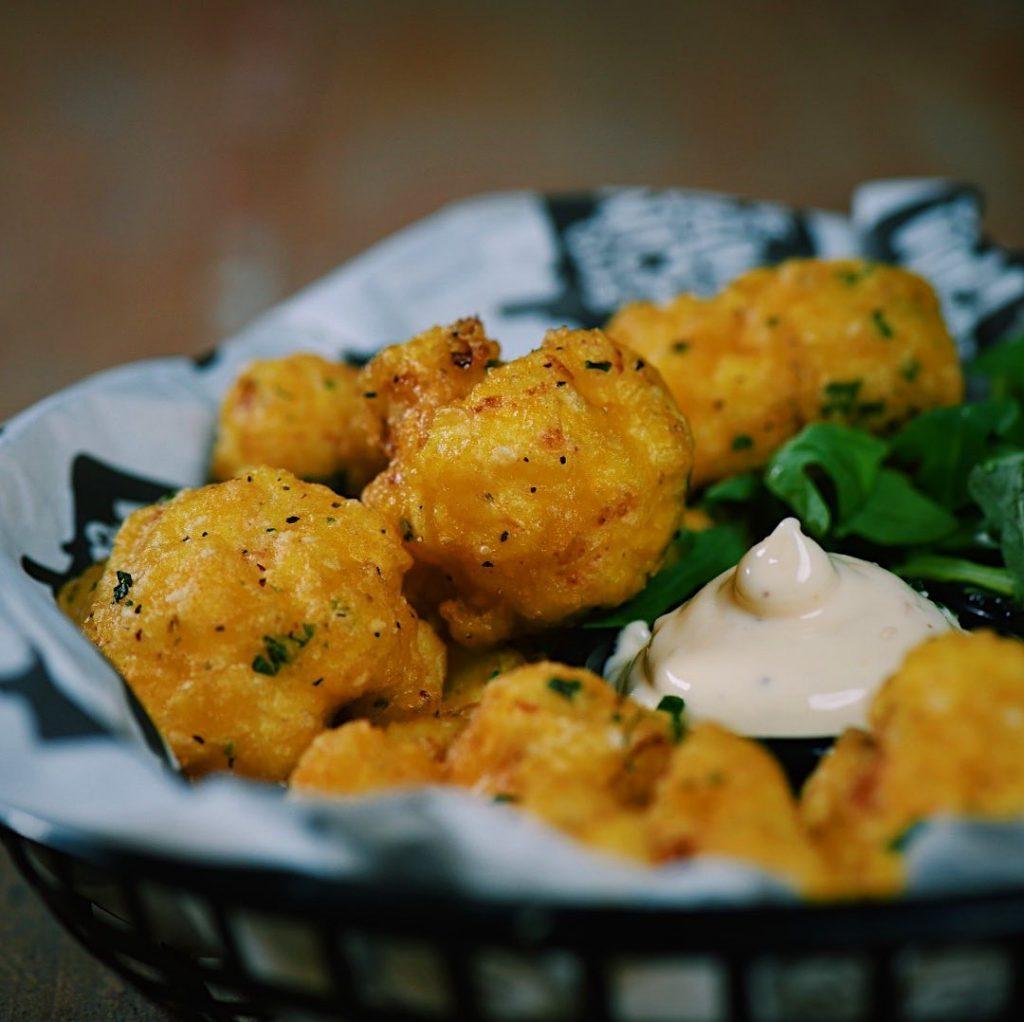 Tempura cauliflower fritters