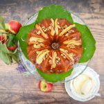 Sugnall apple, ginger and toffee cake