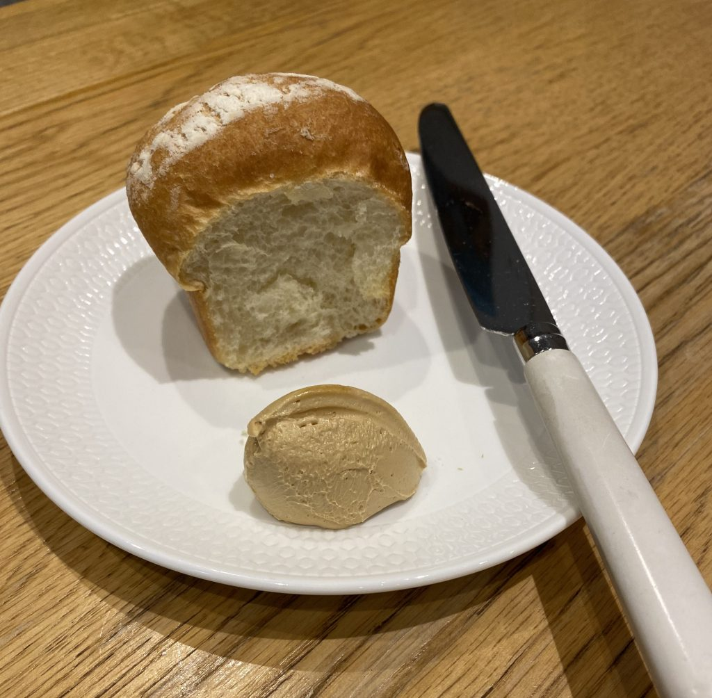 Milk bread with marmite butter