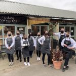 White's Coffee Bar team in masks